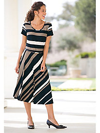 Two-Way Stripe Knit Dress