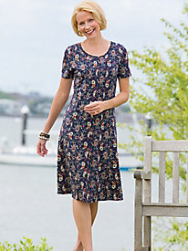 The Wellesley Knit Paisley Seamed Dress