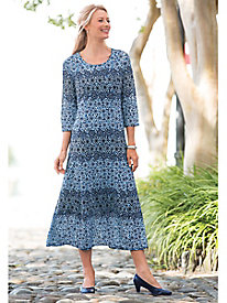 Shades-Of-Blue Mosaic Dress