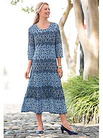 Shades-Of-Blue Mosaic Dress