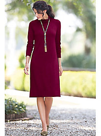 Scrunchneck Sweater Dress