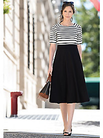 Stripe & Solid Ponte Dress