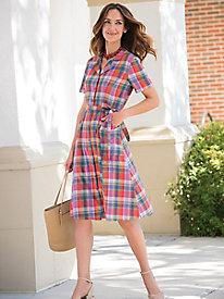 Madras Shirt Dress @...