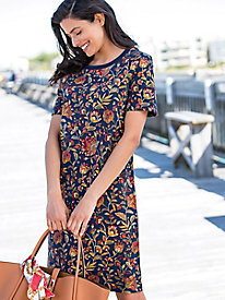 Jacobean Floral Tee Dress...
