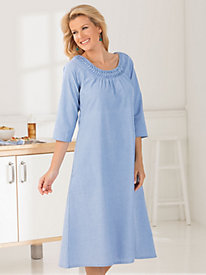 Time to Unwind Chambray Dress