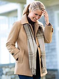 Wool Scarf Coat by London Fog