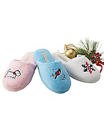 Embroidered Slippers by Appleseed's