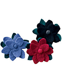 Boiled-Wool Poinsettia Pin