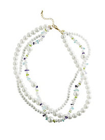 Gemstone & Pearl Twist Necklace