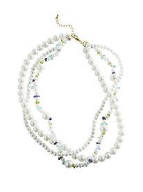 Gemstone & Pearl Twist Necklace