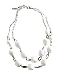 Just White Necklace