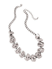 Silver Pebbles Necklace