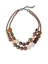 Double-Strand Bronze Necklace