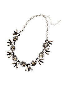 Silver & Gold Statement Necklace by Appleseed's