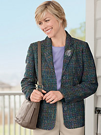 Rainbow Tweed 3 Button Jacket