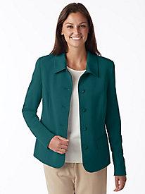 Bi-Stretch Shirt-Collar Jacket