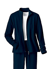 Casual Fleece Zip Front Jacket