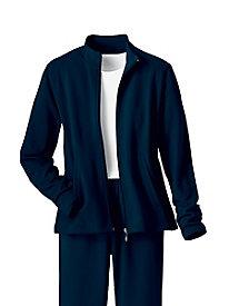 Casual Fleece Zip Front Jacket