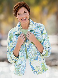 Abstract Jacquard Jacket By Alfred Dunner&#174