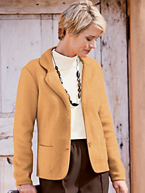 Boiled-Wool Notch-Collar Jacket