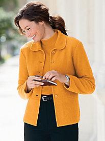Boiled-Wool Seamed Jacket