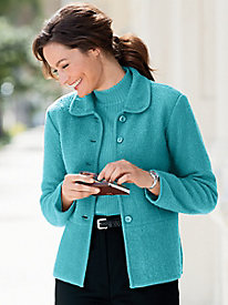 Boiled-Wool Seamed Jacket