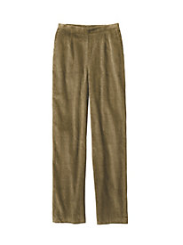 Wide-Wale Cord Flat-Front Pant