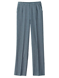 Houndstooth Flat-Front Pant