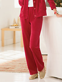 Velour Pull-On Pant