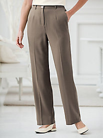 Carefree Look of Linen Fly-Front Pant