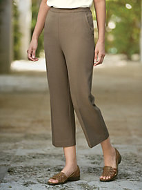 Carefree Look Of Linen Crop Pant