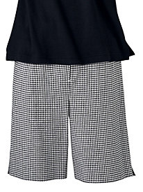 Gingham Check Flat-Front Bermuda Short