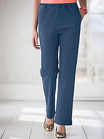 Classic Stretch Denim Pull-On Jeans