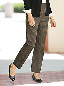 Medallion Print Ankle Pants