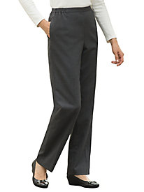 Stretch Wool Gabardine Pull-On Pants