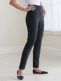 Slim-Leg Ponte Pants...