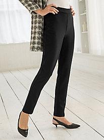 Slim-Leg Ponte Pants