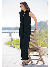Embroidered Crinkle Pant Set by Appleseed's