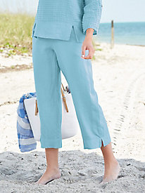 Linen Ankle Pants