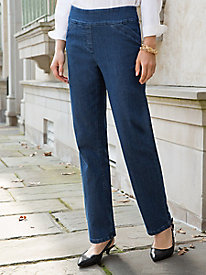 Smooth-Comfort Pull-On Jeans