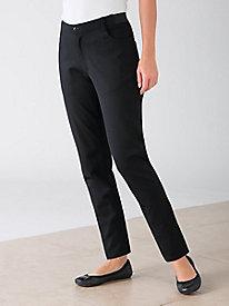 Straight-Leg Ponte Jeans