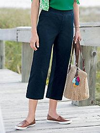 Ladies' Comfortable Capri Pants - Cotton, Denim & Twill | Appleseeds