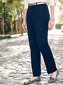 Wool-Touch Fly-Front Pants