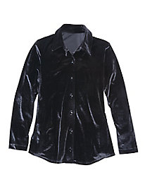 Stretch Velvet Shirt