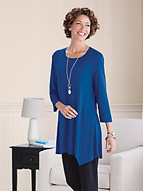 Arched-Hem Knit Tunic