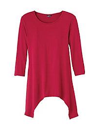 Arched-Hem Knit Tunic