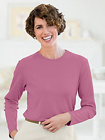 Long-Sleeve Jewel-Neck Tee