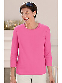 3/4 Sleeve Jewel-Neck Tee