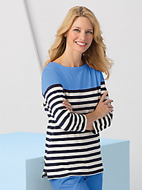 Colorblock Stripe Tee by Koret