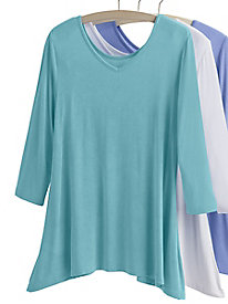 Reversible Neckline Knit Tunic
